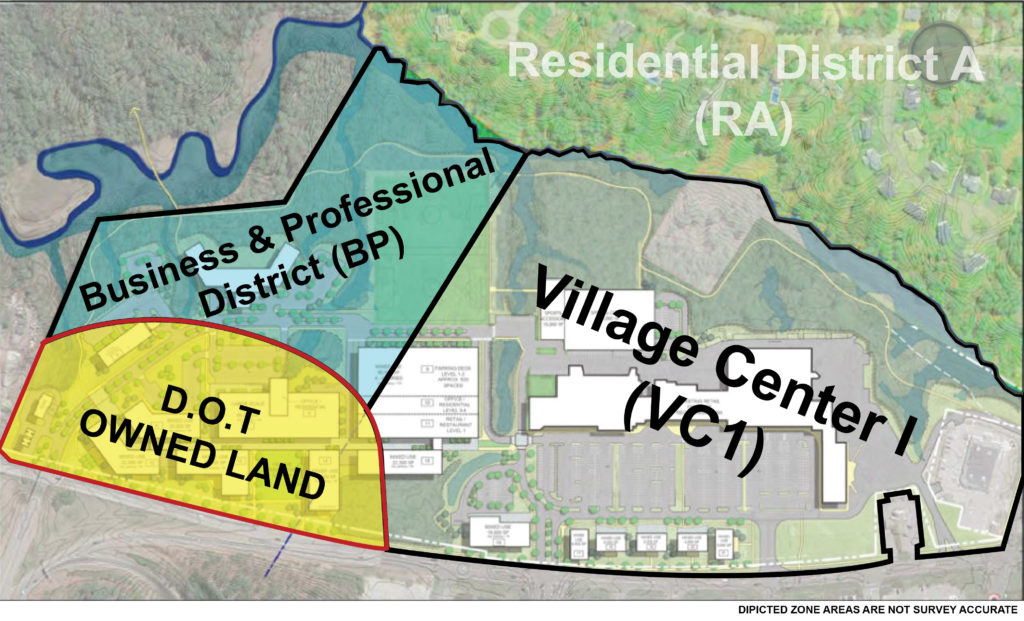 Falmouth Center Overlay with Town Zones